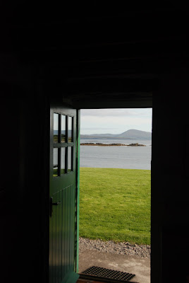 the view from the living room door