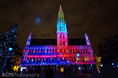 Brussels' famous square, Grand Place, is a magical place at Christmas time. An electric light and music show runs each evening for visitors to enjoy.