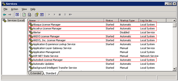 Windows services: all the crappy license servers