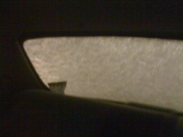 Forgot to clean off my back window... couldnt see out of it.