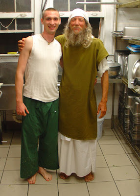 Trey and Aaron, A Christian Mendicant, Wash Dishes