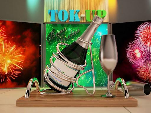Modelagem 3d - garrafa de Champaigne