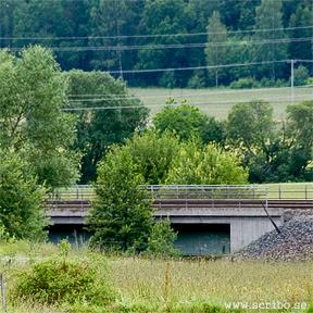 Järnvägsbron över Fyrisån i Vattholma