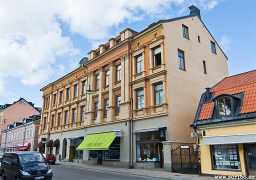 Ej färdibyggt hus på Sysslomansgatan i Uppsala