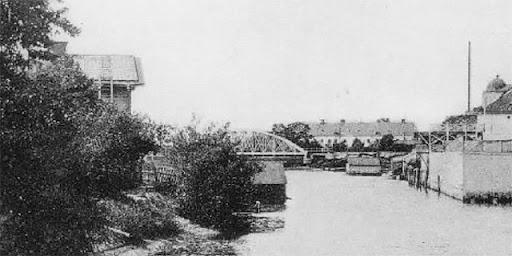 Järnvägsbron över Fyrisån, bågbro 1907