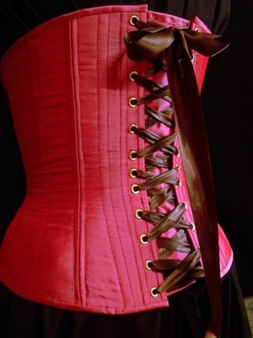 handmade pink corset