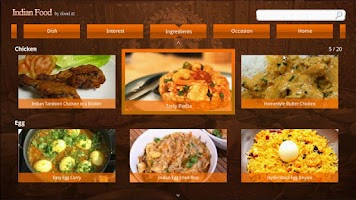 Screenshot of Indian food for Google Tv