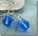 blue Cleo earr
