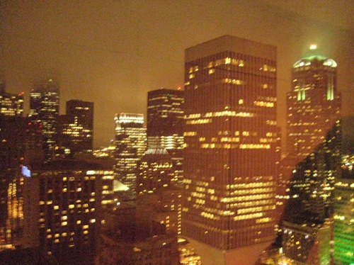 Utsikt fra hotellets toppetasje