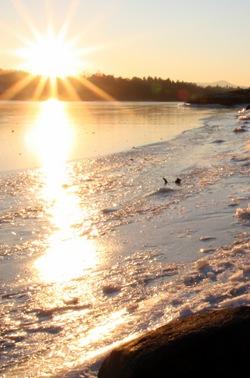 Solnedgang på Kalvøya 30.12.08
