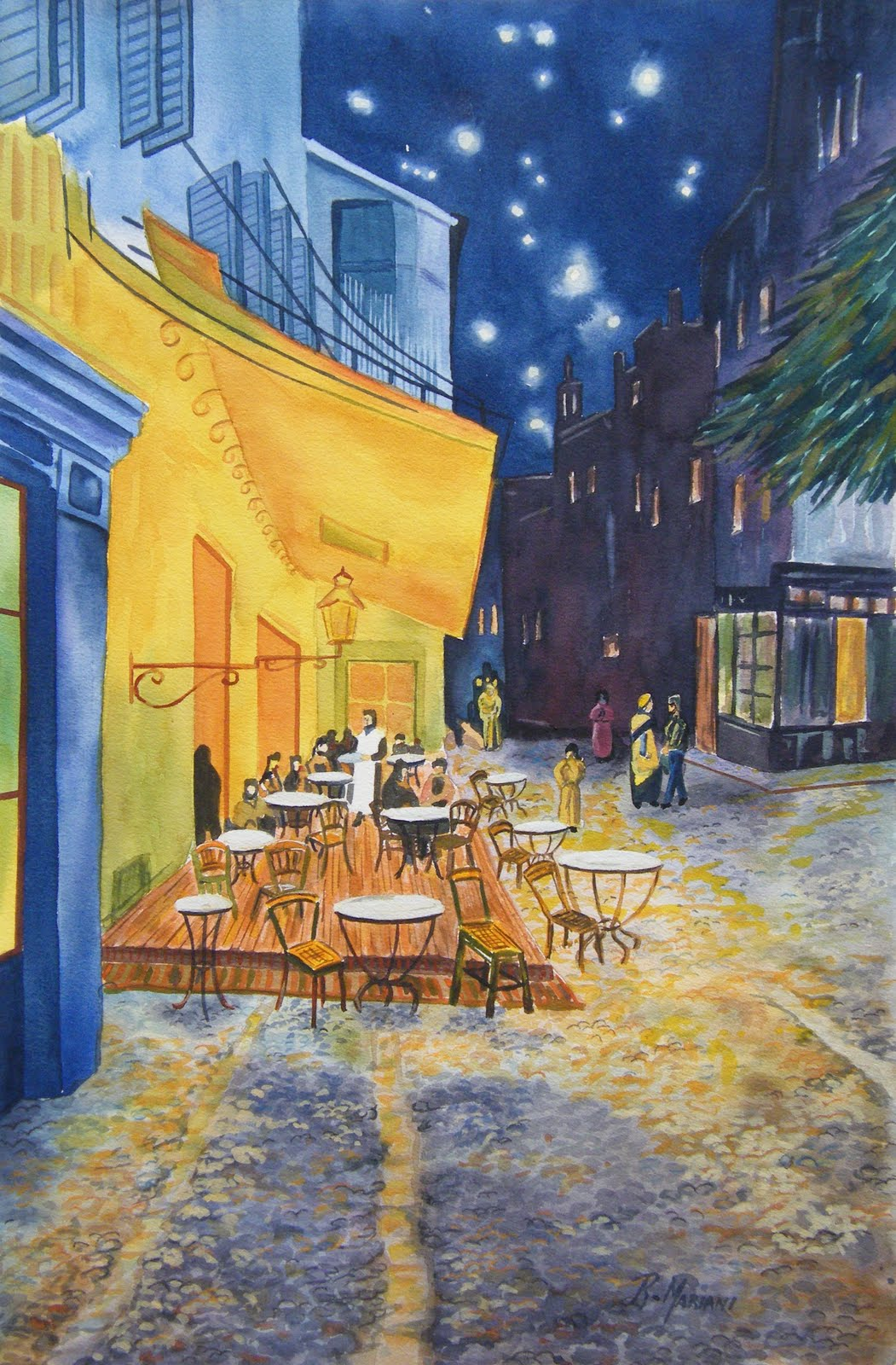 Vincent Van Gogh Cafe Terrace at Night Cafe Terrace a Vincent Van