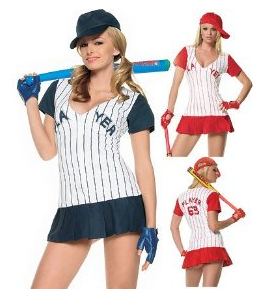 Homerun Hitter - Women's Sexy Baseball Player Costume Lingerie Outfit