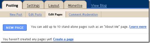 edit halaman di blogger