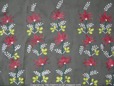 Flower Designs For Fabric Painting. Fabric-Painting
