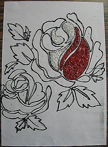 flower designs for glass painting. the normal glass painting