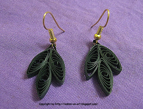 Quilled-leaf-earrings