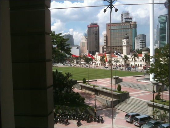 Kuala Lumpur view from library
