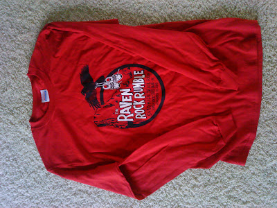 Raven Rock Rumble red race shirt