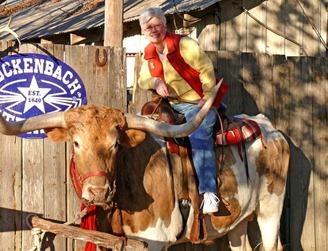 Brenda on Bull