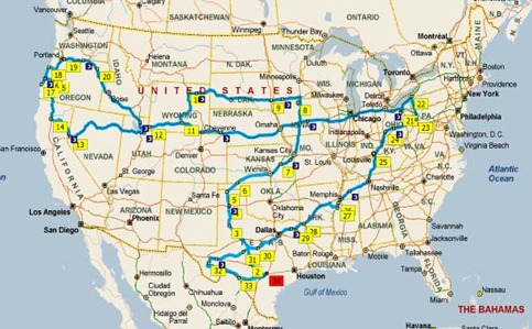 2010 Travel Map2
