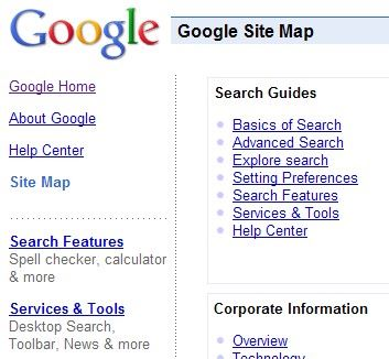 Google Site Map
