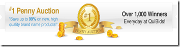 QuiBids Penny Auction banner