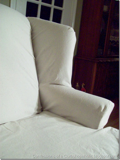 slipcover chair and coffee table 007
