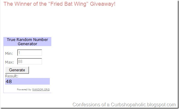 """The Winner of the """"Fried Bat Wing"""" Giveaway! - Windows Live Writer 4112011 62855 AM"""