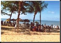 Fortaleza - strandliv en vanlig dag