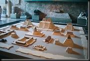 Nasjonalmuseet for atropologi -modell av byen prehispanic - MX