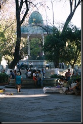 Oaxaca - zocalo med pavillijong