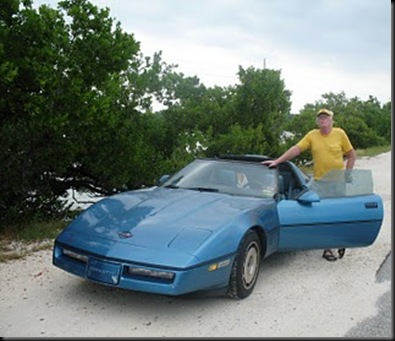 Key West - papa with Corvette