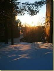 Feb 11- 2011 Sunset and Snow