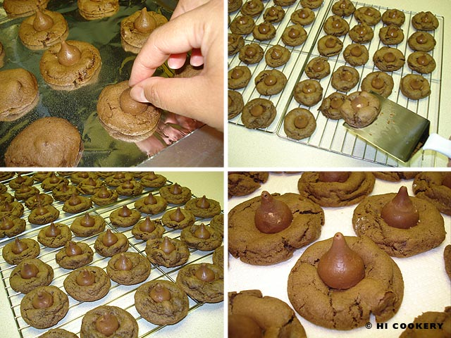 Triple Chocolate Macadamia Nut Kisses Cookies