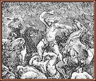 Sansón vence a los filisteos con una quijada. Doré