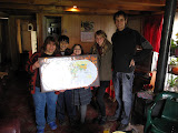 Our present to Familia Albornoz! A world map for their hundreds of visitors to pin their countries on.