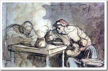 Honoré Daumier (1808-1879), La Soupe. Gravura. Museu do Louvre.
