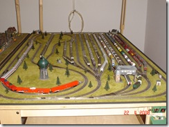plastico treni scala N 007 deposito vagoni