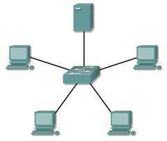 Switch en LAN Cisco CCNA 1 dispositivos de Net Working