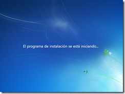 3 - La instalacion de windows 7 se esta iniciando