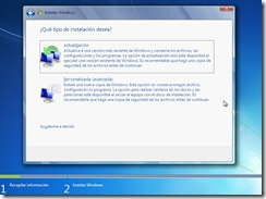 5 - Tipo de instalacion Windows 7