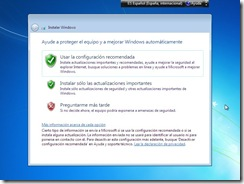 14 - Configuracion de actualizaciones Instalacion Windows 7
