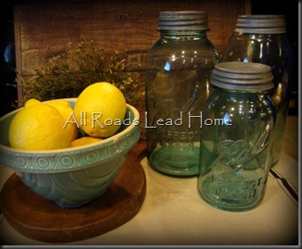 Grammas Bowl Jars Lemons