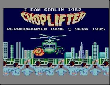 Master System Choplifter