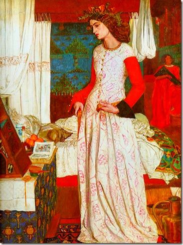 William Morris (1834-1896) La reina Ginebra. Óleo sobre lienzo, 1857 Tate Gallery, Londres