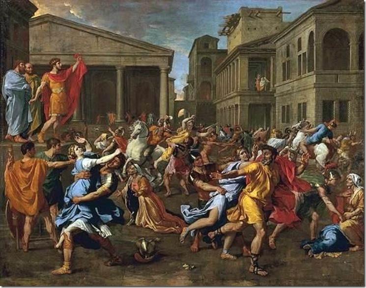 POUSSIN EL RAPTO DE LAS SABINAS  1637-8