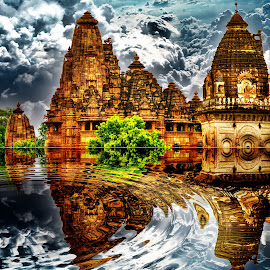 Lakshmana Temple, Khajuraho, MP, India by Sudipto Bhaumik - Digital Art Places