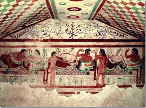 grób lampartów - tarquinia