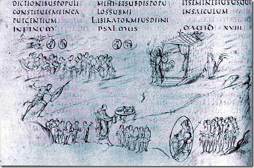 psałterz utrechtcki - psalm 18