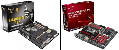 Motherboard ASUS Maximus IV Sabertooth P67 and Sandy Bridge Supports Intel Extreme